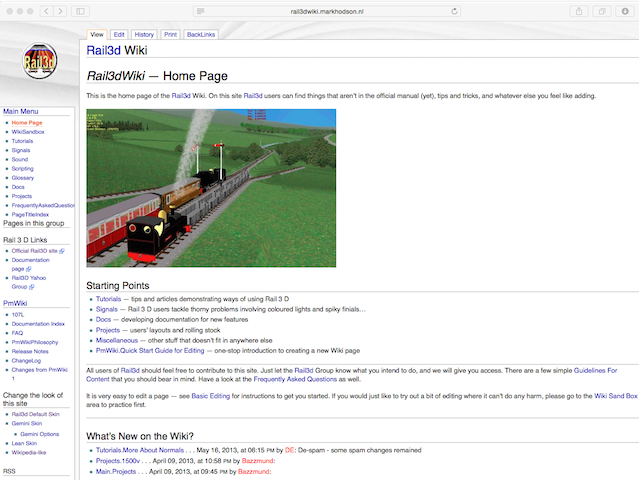 The Rail3d wiki as it was